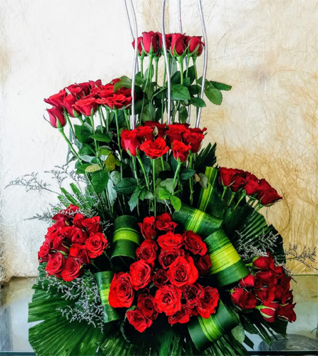 60 Red Roses ArrangementFlowers Delivery in Jalahalli Bangalore