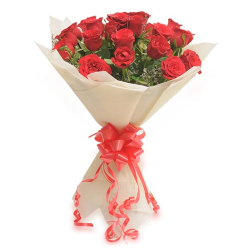 20 Red Roses Bunch in Paper PackingFlowers Delivery in Jalahalli Bangalore