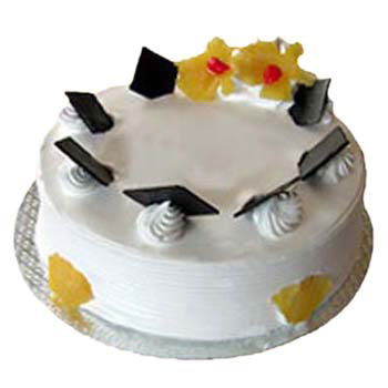 Eggless Pineapple Cake Flowers Delivery in Jalahalli Bangalore