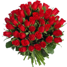 Bunch of 50 Red Rosessend-flower-Ramamurthy-Nagar