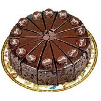 Rich Chocolate Cake (Limited cities)send-flower-Sadashivanagar