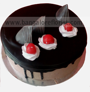 1KG Eggless Plain Chocolate Cakesend-flower-ashoknagar